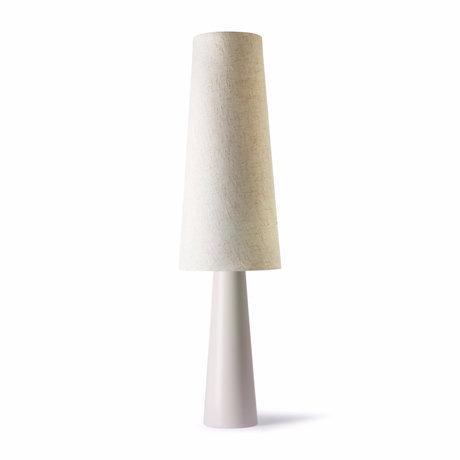 HK-living Lampadaire Retro Cone crème en céramique Ø40x140cm