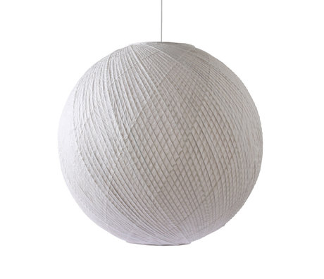 HK-living Lámpara colgante Ball papel bambú blanco Ø80x74.5cm