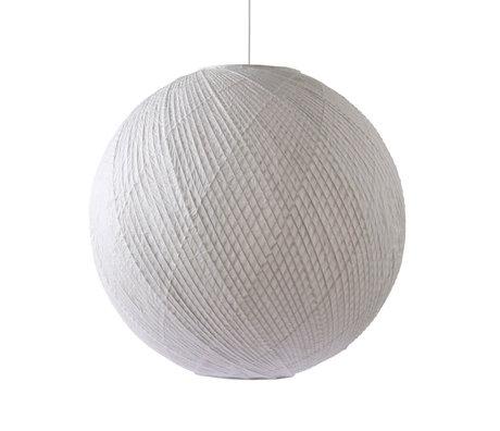 HK-living Lampe à suspension Ball papier bambou blanc Ø80x74,5cm