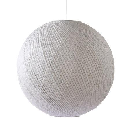 HK-living Lampada a sospensione Ball in carta di bambù bianca Ø80x74,5cm