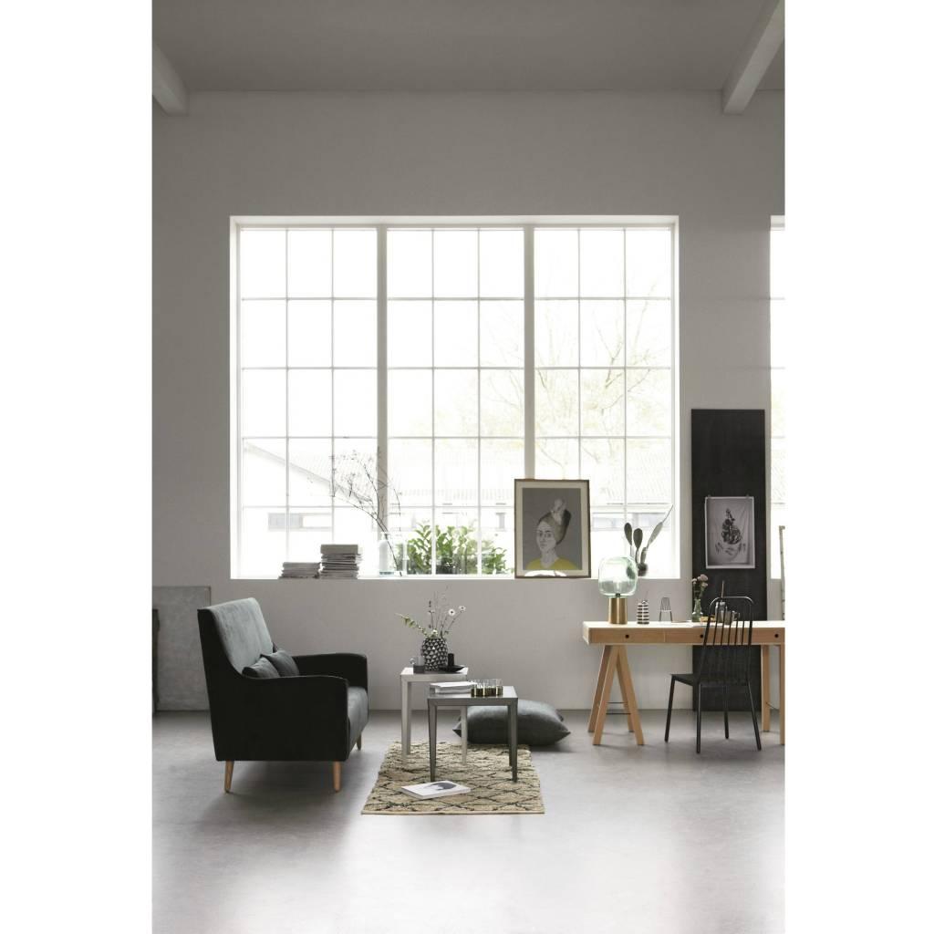 Housedoctor Tapis Géométrie vert vert noir beige toile 90x200cm