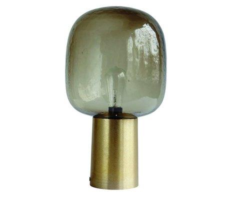 Housedoctor Tableau qualité Lampe en aluminium / verre, tour gris / or, Ø28x52cm