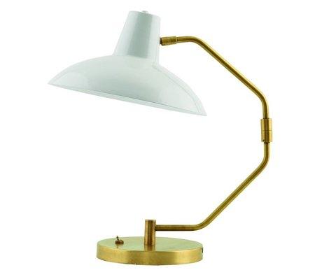 Housedoctor Bordlampe Desk metallisk grå mat guld ø31x48cm