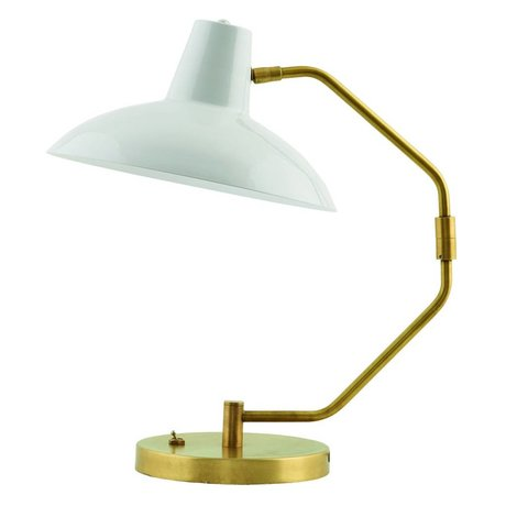 Housedoctor Tischlampe Desk aus Metall, matt grau/gold, Ø31x48cm