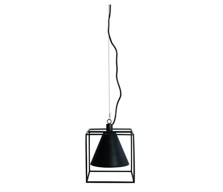 Housedoctor Hanging lamp Kubix black white metal 18x18 cm, h18 cm