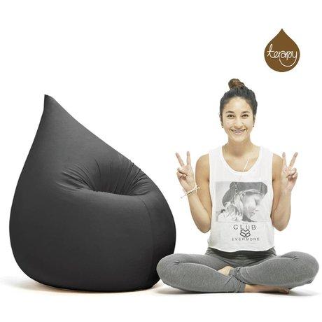 Terapy Sitzsack Elly Tropf aus Baumwolle, schwarz, 100x80x50cm 230 Liter