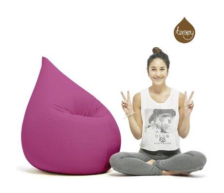 Terapy Sitzsack Elly Tropf aus Baumwolle, pink, 100x80x50cm 230 Liter