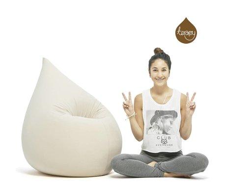 Terapy Beanbag Elly aflevere hvidt bomuld 100x80x50cm 230liter