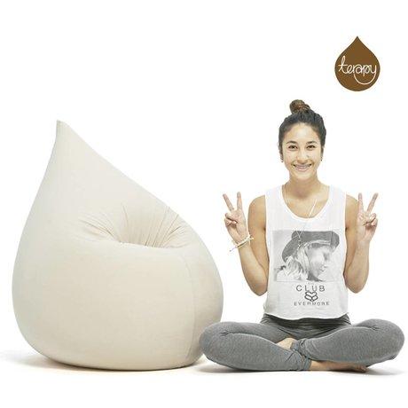Terapy Beanbag Elly scendere cotone bianco 100x80x50cm 230 litro