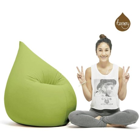 Terapy Beanbag Elly drop green cotton 100x80x50cm 230liter