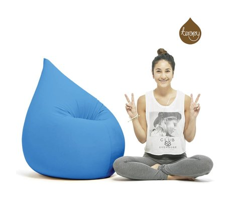 Terapy Beanbag Elly drop turkis bomuld 100x80x50cm 230liter