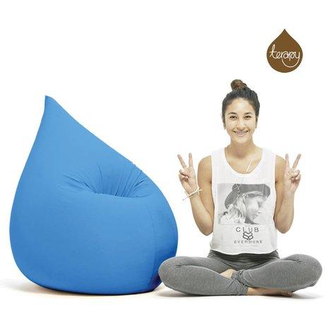 Terapy Beanbag Elly drop turquoise cotton 100x80x50cm 230liter