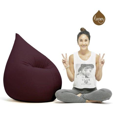 Terapy Beanbag Elly drop eggplant cotton 100x80x50cm 230liter