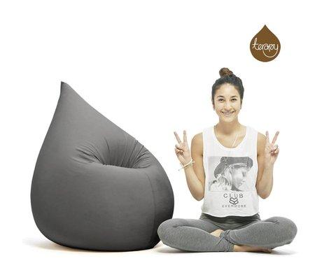Terapy Beanbag Elly gota gris 230 litros 100x80x50cm algodón oscuro