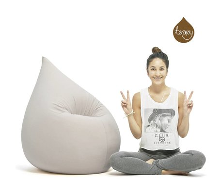 Terapy Beanbag Elly drop light gray cotton 100x80x50cm 230liter