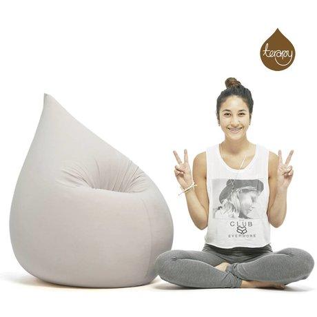 Terapy Beanbag Elly drop lysegrå bomuld 100x80x50cm 230liter