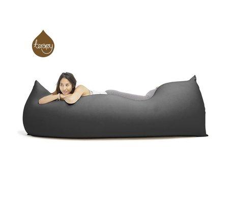 Terapy Beanbag Baloo black cotton 180x80x50cm 700liter