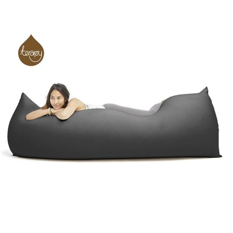Terapy Sitzsack Baloo aus Baumwolle, schwarz, 180x80x50cm 700 Liter
