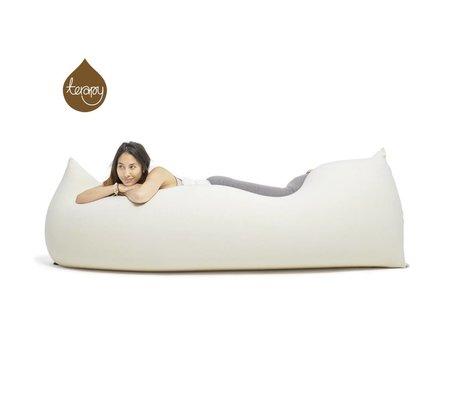Terapy Beanbag Baloo blanquecino 180x80x50cm algodón 700 litros
