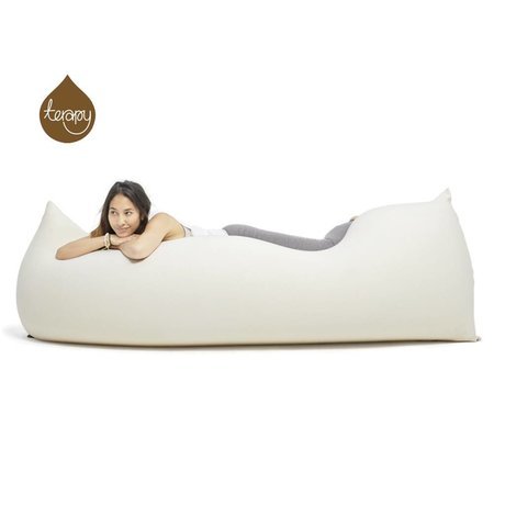 Terapy Beanbag Baloo off-white cotton 180x80x50cm 700liter