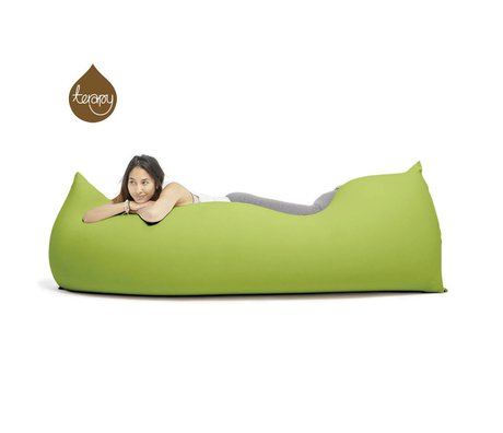 Terapy Sitzsack Baloo aus Baumwolle, grün, 180x80x50cm 700 Liter