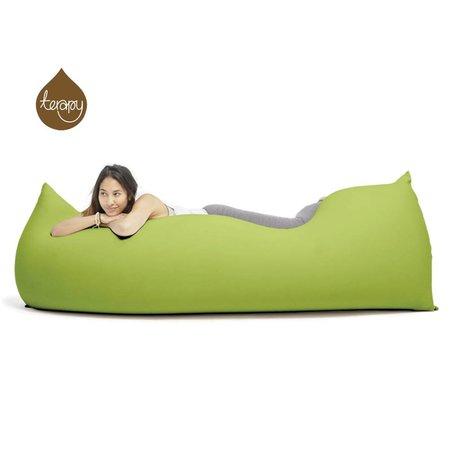 Terapy Pouf Baloo coton vert 180x80x50cm 700liter
