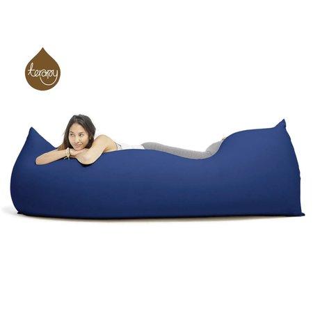 Terapy Sitzsack Baloo aus Baumwolle, blau, 180x80x50cm 700 Liter