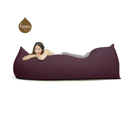 Terapy Beanbag Baloo aubergine bomuld 180x80x50cm 700liter