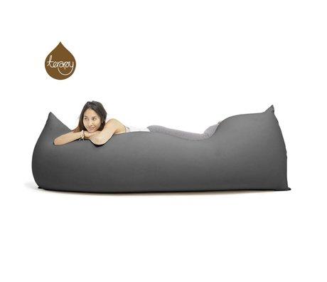 Terapy Beanbag Baloo oscura 180x80x50cm 700 litros de algodón gris