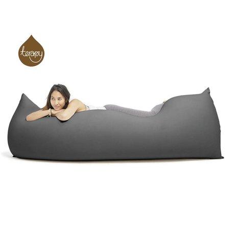 Terapy Beanbag Baloo mørkegrå bomuld 180x80x50cm 700liter