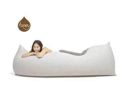 Terapy Sitzsack Baloo aus Baumwolle, hellgrau, 180x80x50cm 700 Liter