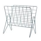 Housedoctor Magazine rack News metal gray 27x37cm, H37cm
