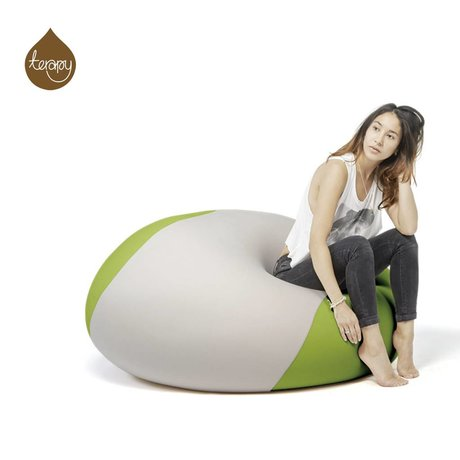 Terapy Beanbag Ollie light gray green 100x100x80cm 700liter