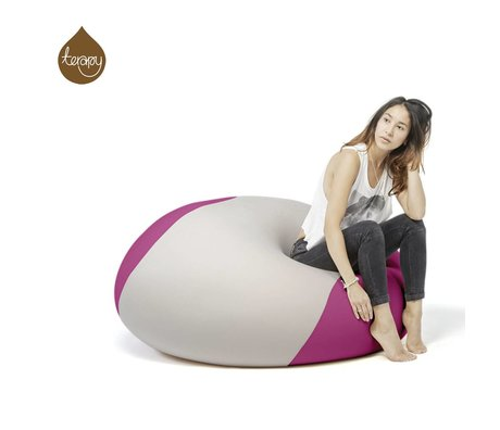 Terapy Beanbag Ollie light gray pink 100x100x80cm 700liter