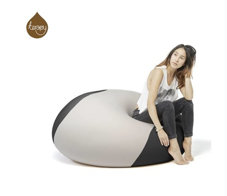 Terapy Beanbag Ollie light gray black 100x100x80cm 700liter