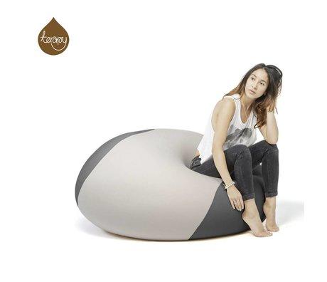 Terapy Beanbag Ollie light gray dark gray 100x100x80cm 700liter