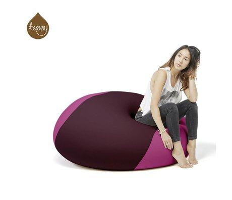 Terapy Sitzsack Ollie, aubergine/rosa, 100x100x80cm 700liter