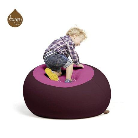 Terapy Sitzsack Stanley, aubergine/rosa, 70x70x80cm 320liter