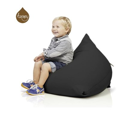 Terapy Pyramide pouf Sydney coton noir 60x60x60cm 130liter