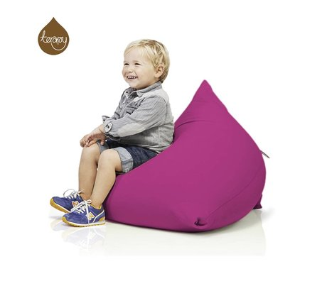 Terapy Sitzsack Sydney Pyramide aus Baumwolle, rosa, 60x60x60cm 130liter