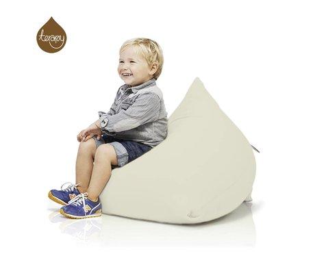 Terapy Sitzsack Sydney Pyramide, aus Baumwolle, creme, 60x60x60cm 130liter