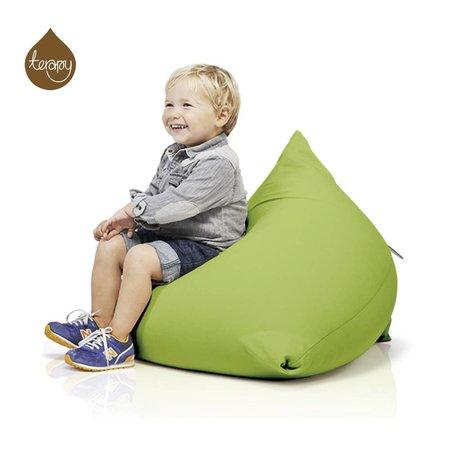 Terapy Piramide Beanbag Sydney cotone verde 60x60x60cm 130 litro