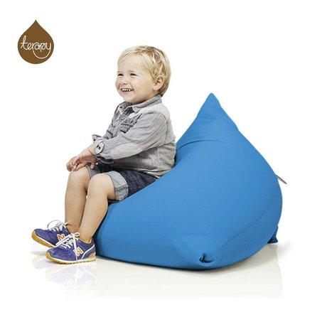 Terapy Sitzsack Sydney Pyramide aus Baumwolle, türkis, 60x60x60cm 130liter