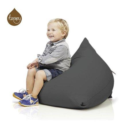 Terapy Sitzsack Sydney Pyramide aus Baumwolle, dunkelgrau, 60x60x60cm 130liter