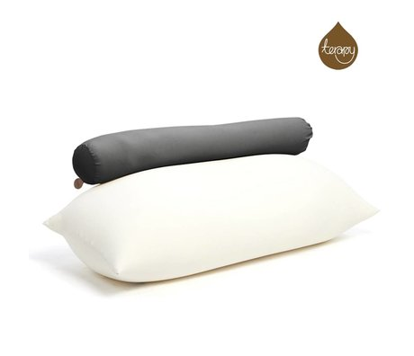 Terapy Beanbag Toby algodón negro 160x25x25cm 120 litros