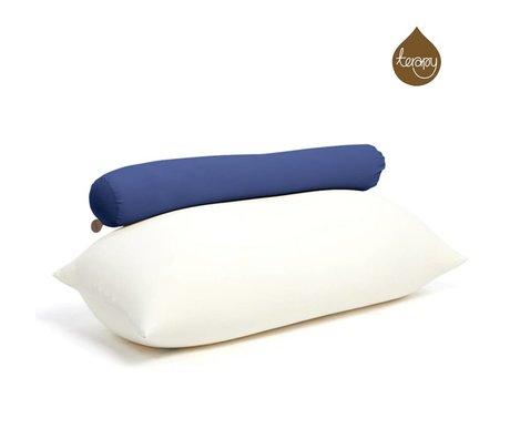 Terapy Pouf Toby coton bleu 160x25x25cm 120liter