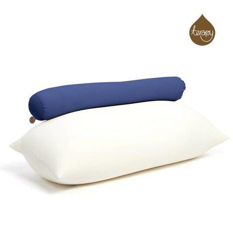 Terapy Sitzsack Toby aus Baumwolle, blau, 160x25x25cm 120liter