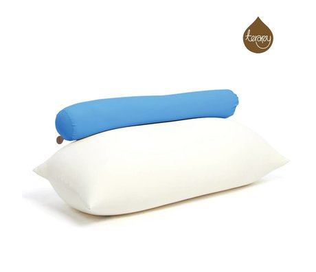 Terapy Beanbag Toby cotone turchese 160x25x25cm 120 litro