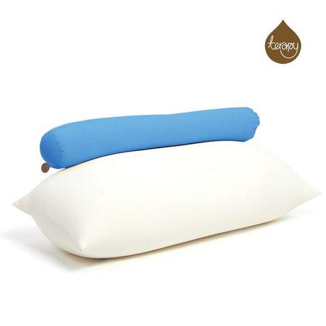 Terapy Sitzsack Toby aus Baumwolle, türkis, 160x25x25cm 120liter