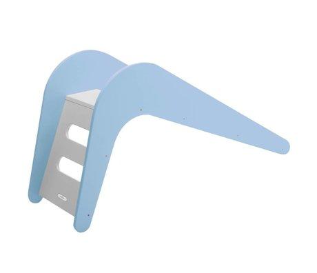 Slide Blue Whale wooden, blue, 145x43x68cm